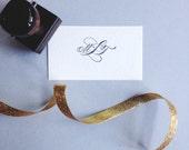 Calligraphy Monogram Stamp Custom