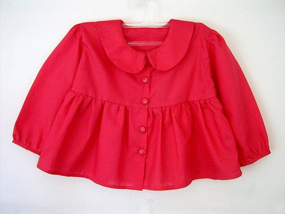 Girl blouse. Sewing patterns (PDF). Sizes: 3 months to 8 years.