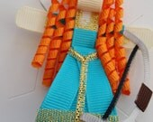 CLEARANCE SALE ribbon sculpture Merida Brave like hair clip Alligator clip