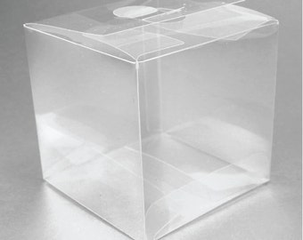 50 Clear Wedding Favor Boxes - Perfect for Shot Glasses, Votive Holders, Etc
