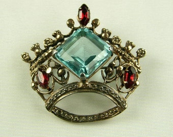 Sterling Silver Crown Pin (No. 663)