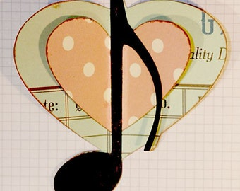 4 Love Heart Musical Notes, SVG Cutting Files Kit