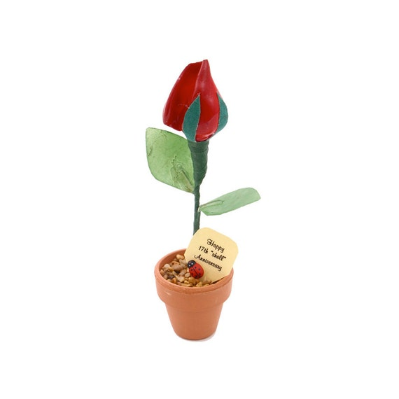 Gift For 17th Wedding Anniversary: 17th Anniversary Gift Shell Rose