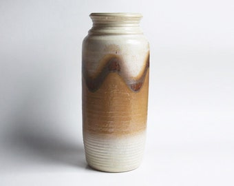 West German Floor Vase Brown /Beige Vase -  Bay