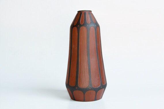 Vintage German Matte Brown Vase -   Kunsttöpferei Marschner  c.50s 60s