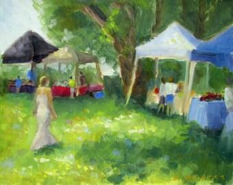 Summer Market - original oil plein air painting by Keiko Richter 8x10