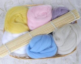 Wet Felt Making Kit Beginners Starter Pack Craft Gift Pastels or Brights