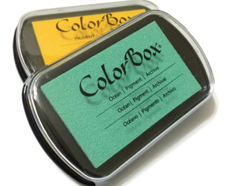 Color Box Stamp Pigment Ink Pad - Full Size - Add-On - Choose Your Color - SOLIDS