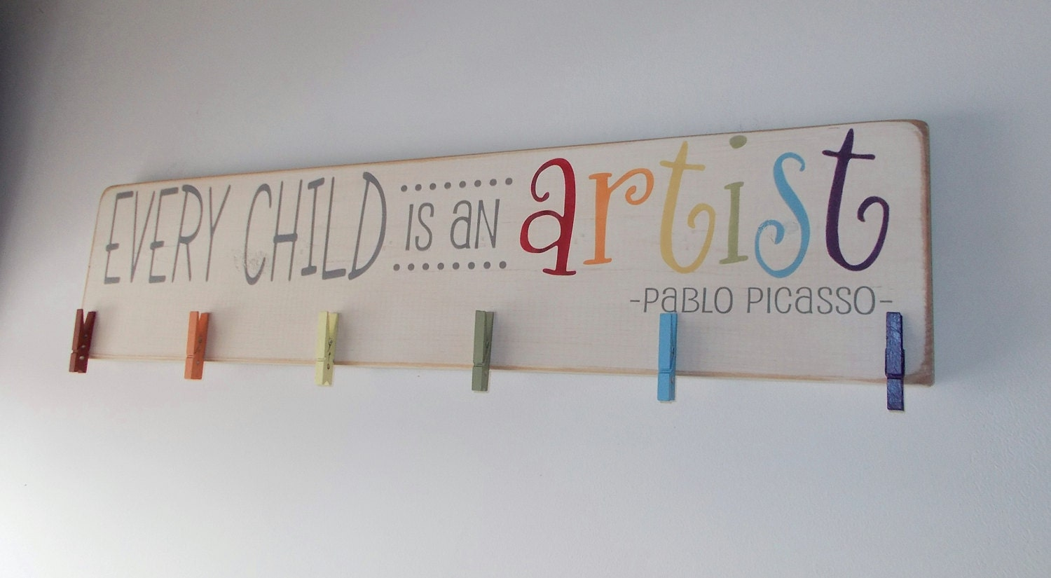 Childrens Artwork Display Every Child Is An Artist Childrens Art Display Board Wood