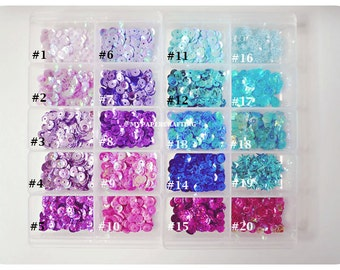 Loose Sequins choose your color for card making or scrapbook