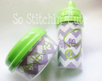 Personalized Sippy Cup and Snack Cup Set