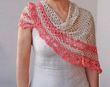 Crochet pattern woman shawl, triangle shawl,  lace shawl, women wrap, DIY photo tutorial, PDF Instant download