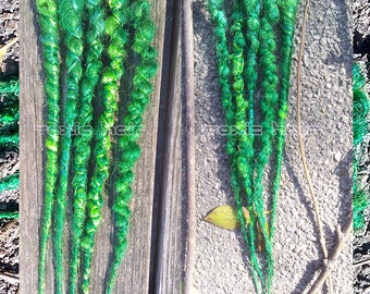 7 custom made multi wrapped dreads you pick the colors accent set  dreadlocks
