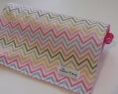 Baby Girl  Minky Blanket- Chevron Collection - Size (32x25)