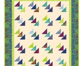 Quilt Pattern - Southbound Flying Geese Quilt - Easy with Quilt In A day Flying Geese Ruler - Hard Copy Version