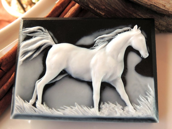 HORSE SOAP, Running Wild and Free Horse Soap Rodeo Soap Equestrian Soap Handmade, Vegetable Based, Scented in Wild Berry Musk