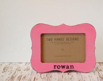 Little Girl Frame, Personalized Frame, Custom Frame, Baby Gift, 4x6 Personalized Frame