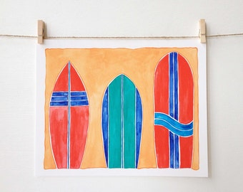 Surf Art - Beach Art - Surfboard Art