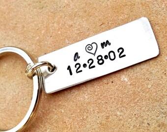 Boyfriend Gift, Girlfriend Gift, keychain,personalized keychain, personalized gifts, anniversary gifts, his and hers