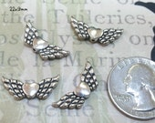 Pewter Angel Wing Findings 22mm (F80)  20 pieces