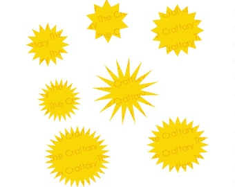 Star Bursts Mix Collection SVG Files