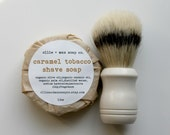 Caramel Tobacco Shave Soap, Shaving Soap, Soap for Men, Cold Process Soap, Vegan Soap