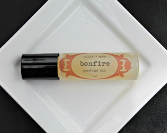 Bonfire Vegan Perfume, Roll On Perfume, Perfume Oil, Woodsmoke, Vanilla