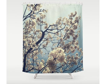 Blooming Yellow Shower Curtain