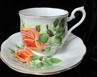 Royal Albert Rose and Rose Bud Cup and Saucer