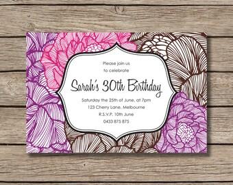 Printable DIY Birthday Party Invites
