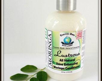 Lustrous Shine Enhancing Moringa Hair Conditioner. Natural, Gluten Free, Organic, NO Silicones, Unique Vitamin & Mineral Rich Blend