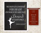 Friedrich Nietzsche Quote- Ballet Art- Dancer Art- Dancing Quote- Black & White Art- Ballet Quote- Live Laugh Dance- Dance Teacher Gift  - Great Gifts for Dance Teachers - Etsy Finds