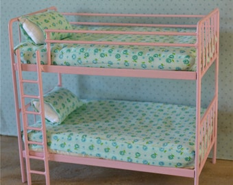 Doll Bunk Bed Miniature Metal Bed 1/6 Playscale, Barbie, Blythe