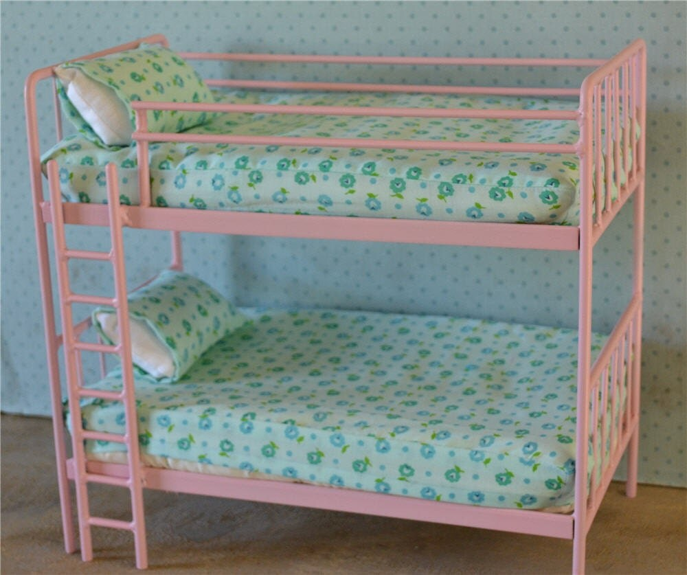 Bunk Bed Dolls: Doll Bunk Bed Miniature Metal Bed Playscale Barbie Blythe