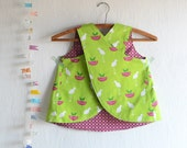 Cross Back Pinafore Perfectly Perched / Toddlers, Little Girls