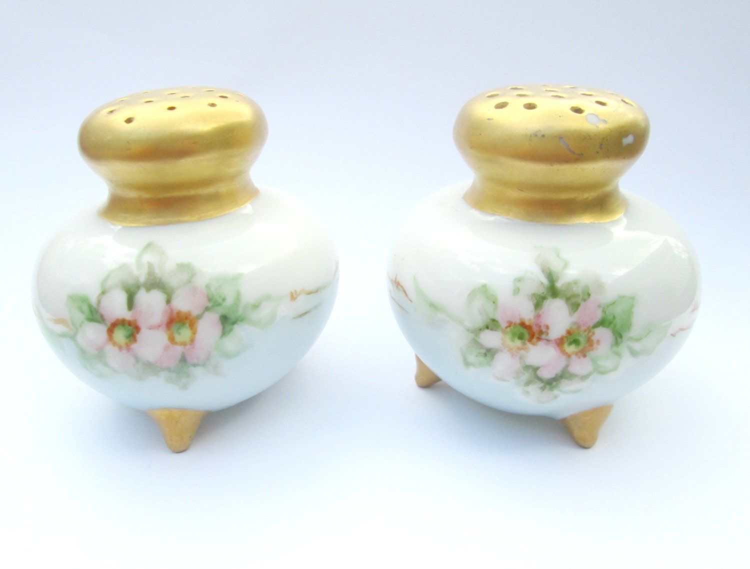 Vintage Antique Salt And Pepper Shakers By Looseendsvintage