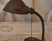 Vintage Industrial Desk Lamp - Goose Neck needs rewiring
