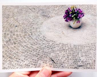 Purple Flowers Minimal Photo Print  4x6