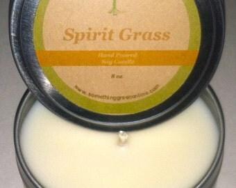 Spirit Grass Soy Massage Candle 8 oz