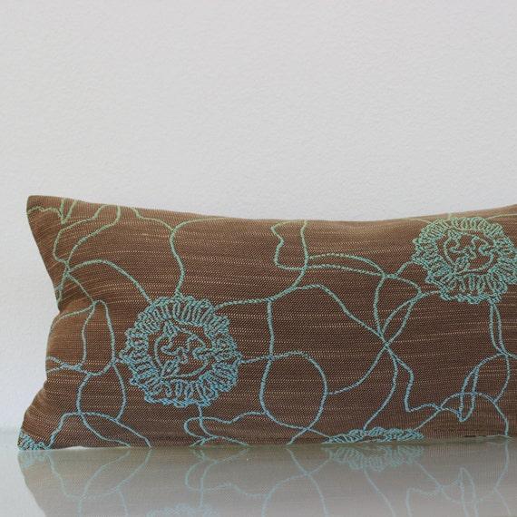 Lumbar Pillow 8x16 Petite Lumbar Brown Lumbar by couchdwellers