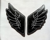 Black Faux Leather with White Stitching Percy Jackson Inspired Shoe Wings