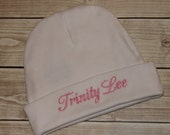 Personalized Embroidered Baby Hat