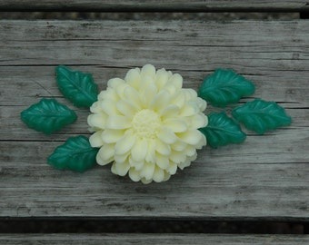 Zinnia Soap - Flower Soap - Goats Milk Soap - White Tea and Ginger Scent - Highly Detailed