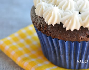 Navy Blue Cupcake Liners - Set of 40 - Solid Blue Greaseproof Baking Liners