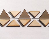 """25 Ct 1.5"""" Wood Triangles - Unfinished - for Charms, Crafts, Pendants, DIY Projects SH-306-1.5"""