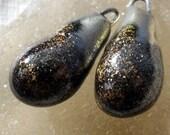Porcelain Bronzy Droplets Hematite Shimmer