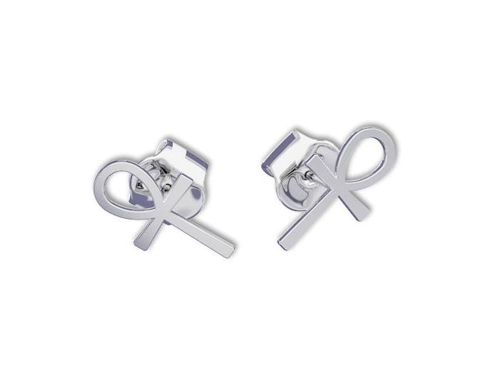 ANKH Cross Earrings -14k gold earrings, post Earring, key of life, the key of the Nile or crux ansata