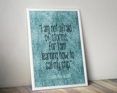"Positive Home Decor ""I Am Not Afraid Of Storms"" Wall Print Quote Art"