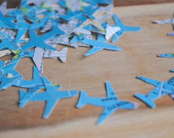 "250 Small Atlas Airplane Plane Cutouts (1"") diecuts, punches, confetti"