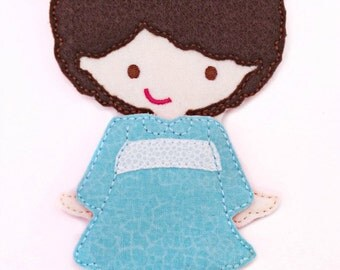 Felt Doll, LuLu Doll, Non Paper Doll, Doll with outfit, Felt Paper Doll, Felt Toy, Travel Toy